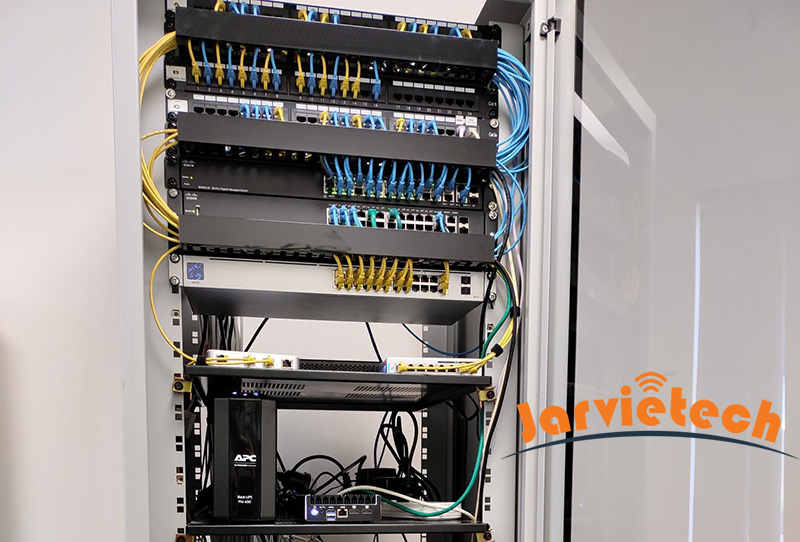 Server and Network rack after tidy up